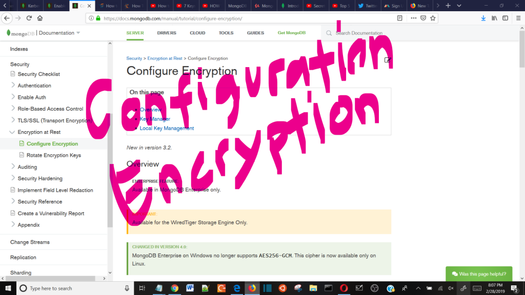 Configure Encryption - MongoDB Mix